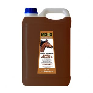 MD10 High Content BIOTIN (VITAMIN B7) Horse Shampoo - 5 Litre (20 Litre diluted)